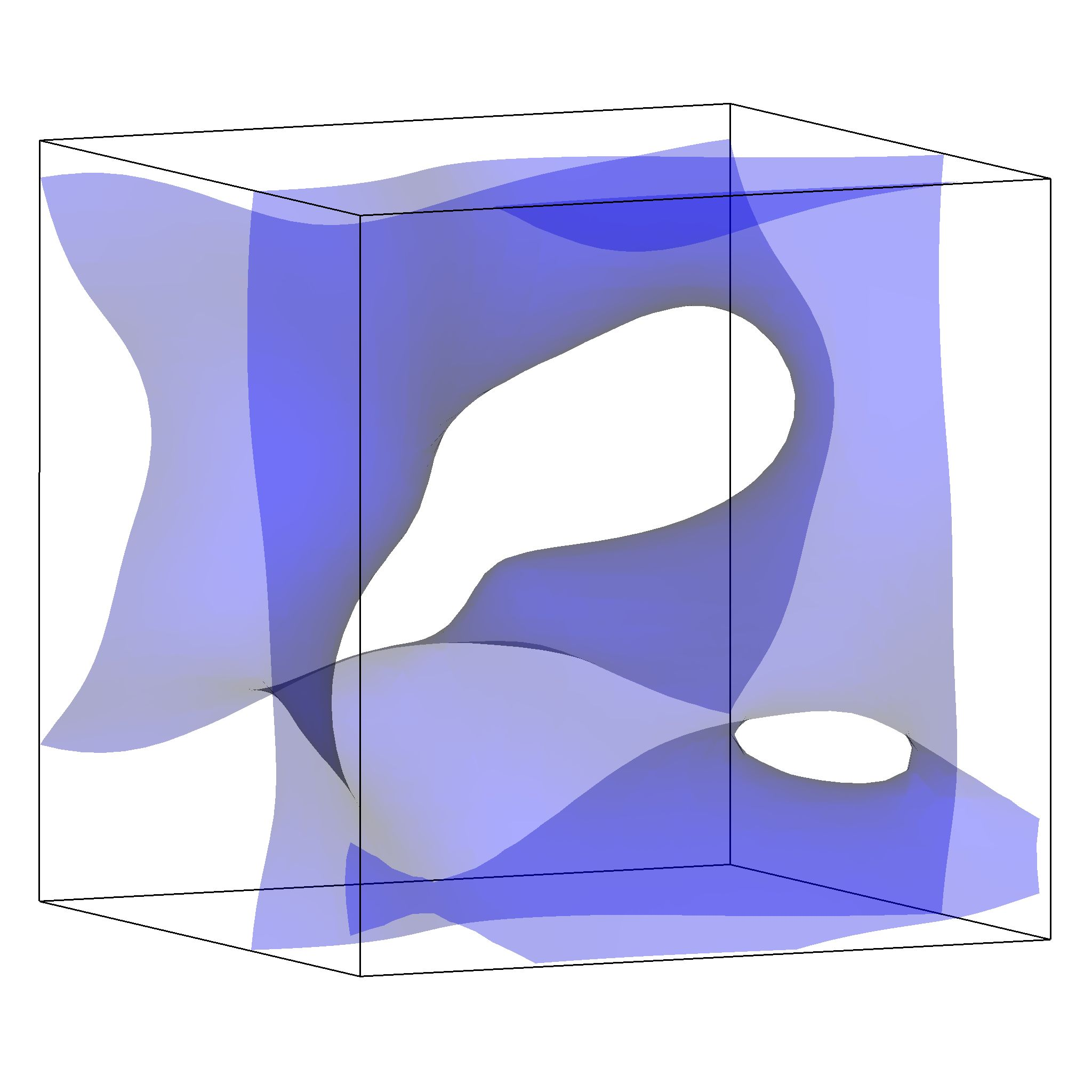Visualisation of a smooth isosurface in VisIt without ghost zones.